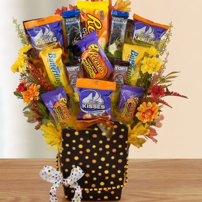 Boo-tastic Candy Bouquet by Bisket Baskets And More