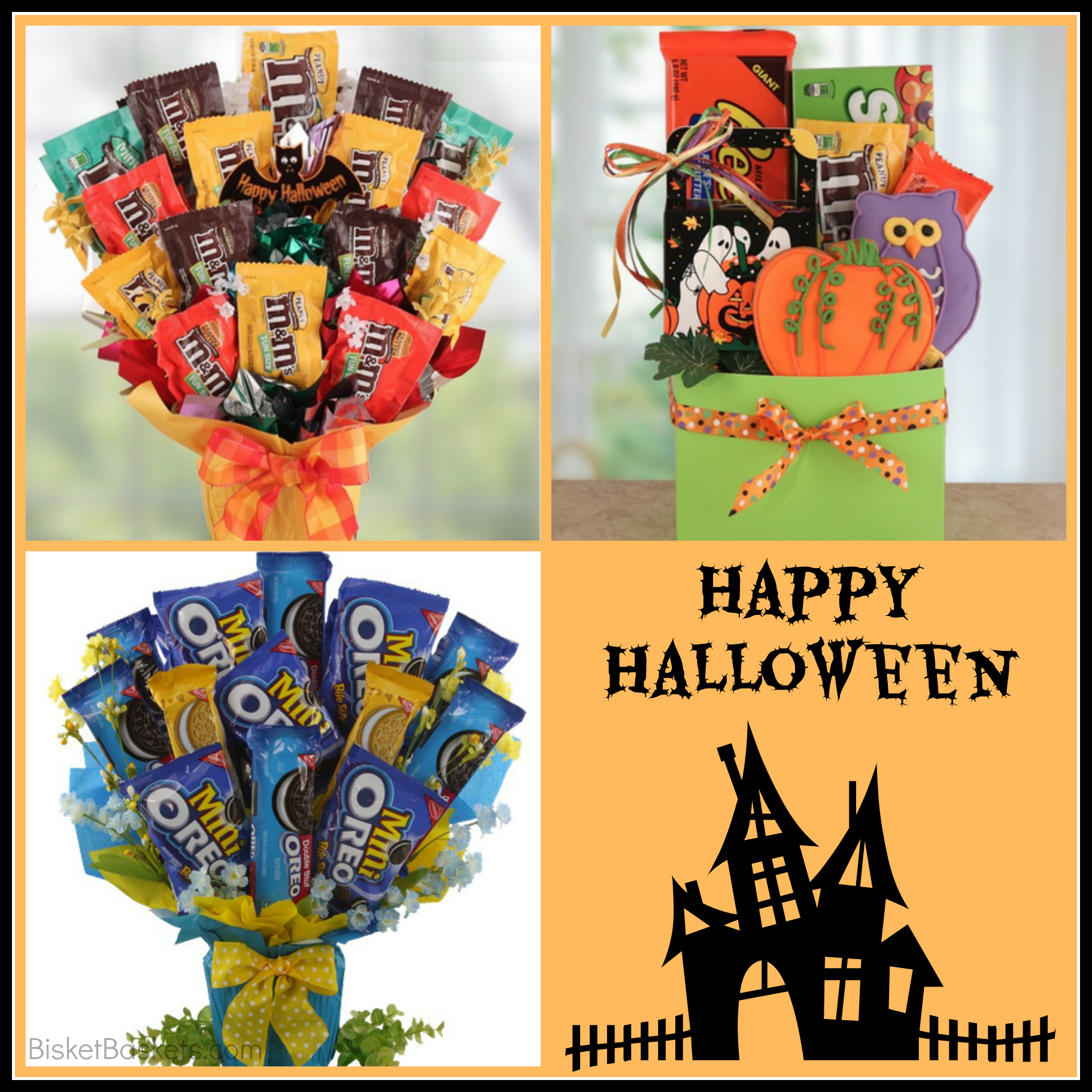 Halloween Spooky Basket.Get Spooky Treat Them With A Halloween Gift Basket