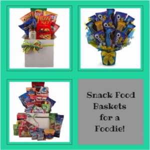 Snack Food Baskets for a Foodie