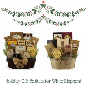 Holiday Gourmet Food Baskets for White Elephant | BisketBaskets.com