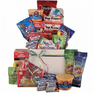 College Survival Foods Care Package Gift | BisketBaskets.com